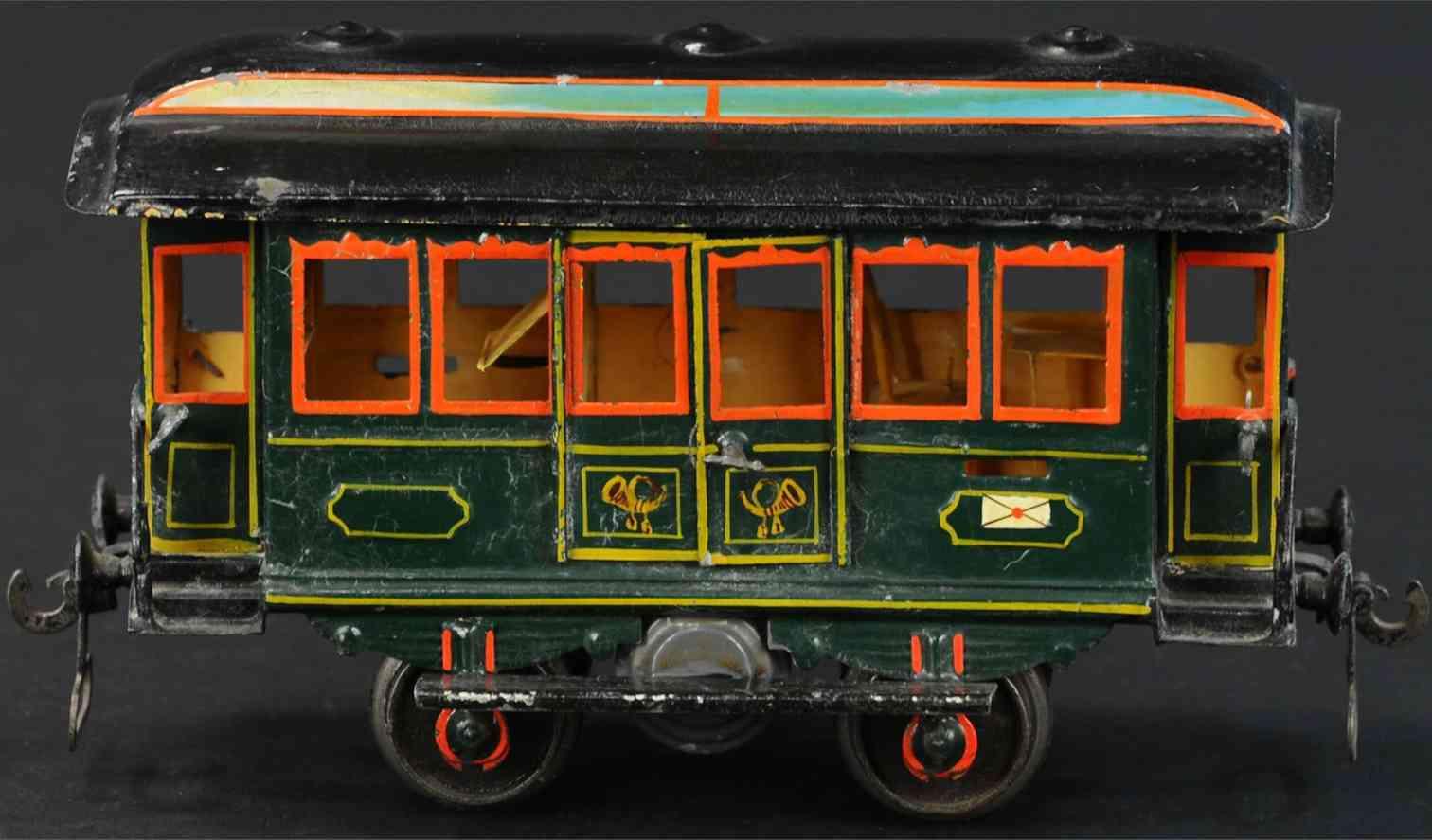 maerklin 1822/1 spielzeug eisenbahn postwagen gruen gaszylinder spur 1