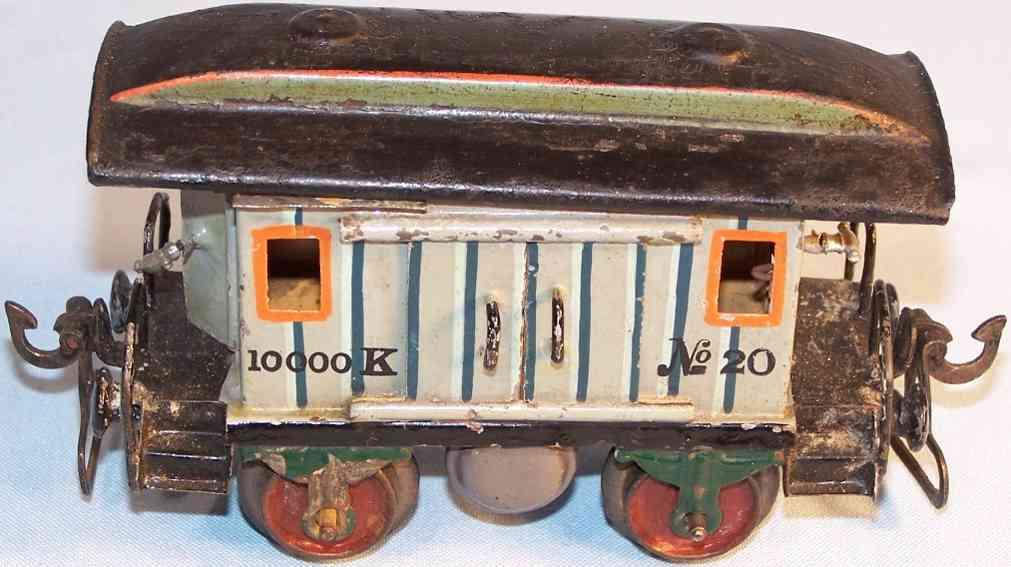 maerklin 1823/0 spielzeug eisenbahn gepaeckwagen grau spur 0
