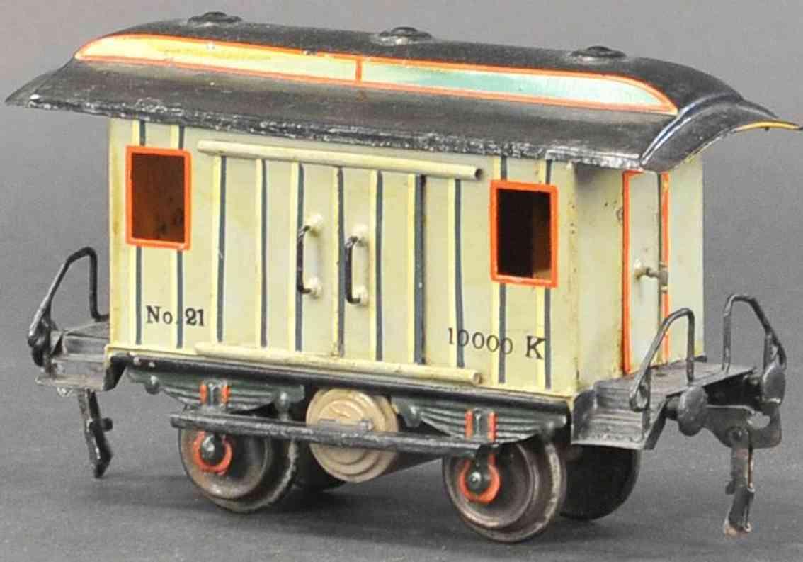 marklin maerklin 1823/1 1901 railway toy baggage car gray gauge 1
