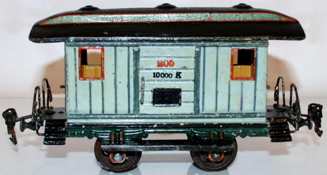 maerklin 1823/1 spielzeug eisenbahn gepaeckwagen grau spur 1