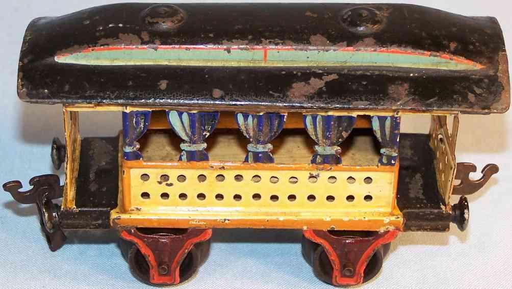maerklin 1825/0 spielzeug eisenbahn sommerwagen gelb blau spur 0