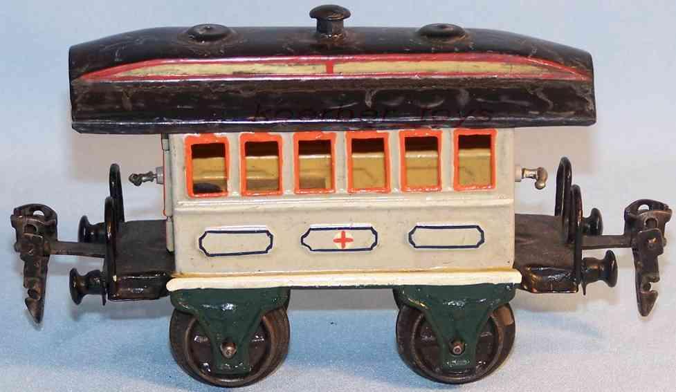maerklin 1828/0 krankenwagen ohne gasbehaelter hellgrau spur 0