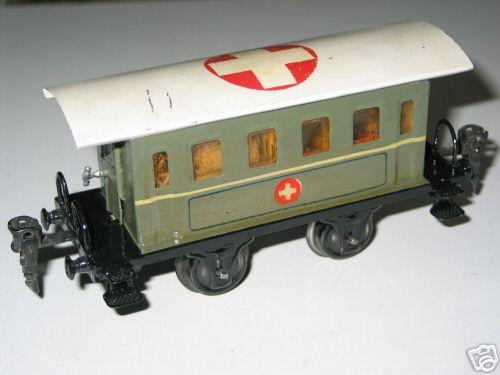 maerklin 1828/0 p spielzeug eisenbahn sanitätswagen grau spur 0