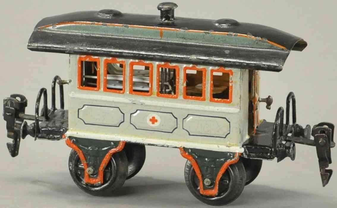 maerklin 1828/0 p sanitaetswagen ohne gasbehaelter hellgrau spur 0