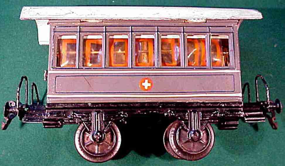 maerklin 1828/1 p spielzeug eisenbahn sanitaetswagen grau spur 1