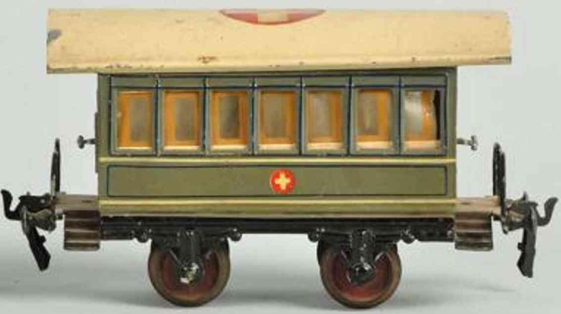 maerklin 1828/1 spielzeug eisenbahn sanitaetswagen grau spur 1