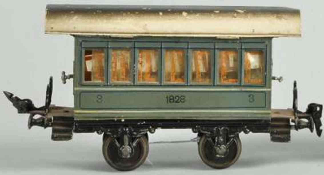 maerklin 1828/1 spielzeug eisenbahn sanitaetswagen graugruen spur 1