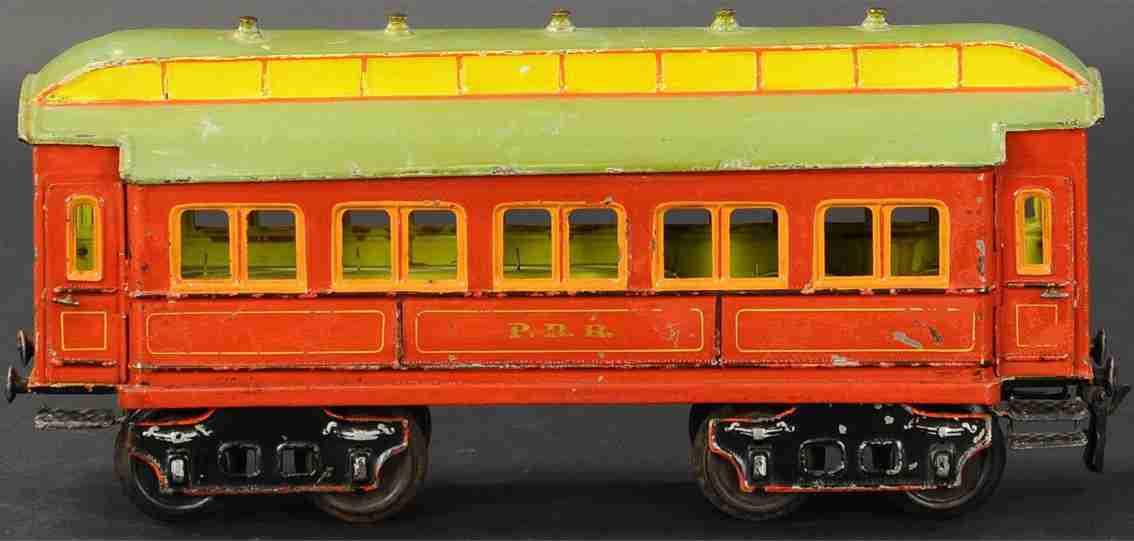 maerklin 1831/II spielzeug eisenbahn amerikanischer personenwagen rot gelb spur 2