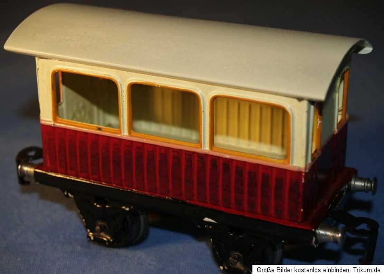 maerklin 1834/0 spielzeug eisenbahn aussichtswagen rot creme spur 0