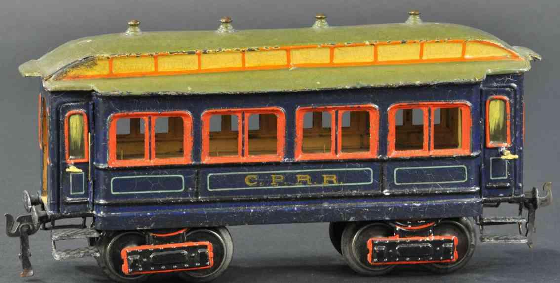marklin maerklin 1834/1 cprr railway toy passenger car blue gauge 1