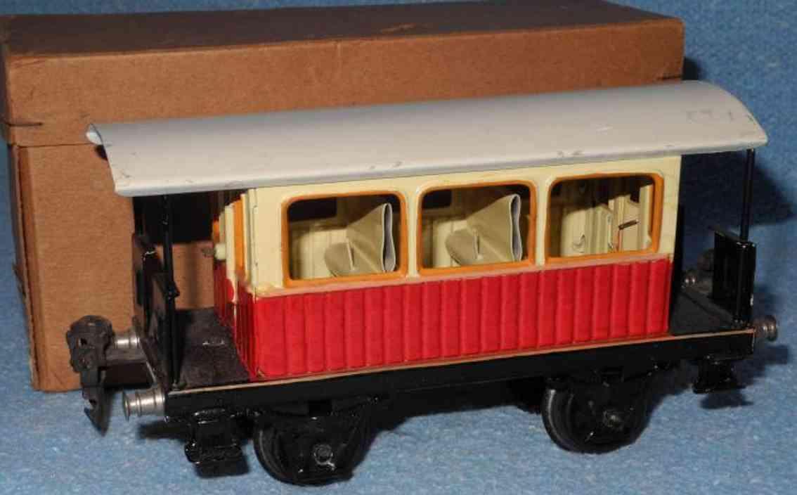 maerklin 1835/0 spielzeug eisenbahn aussichtswagen rot spur 0