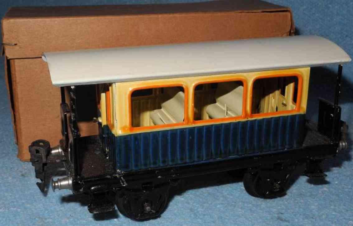 maerklin 1835/0 spielzeug eisenbahn aussichtswagen blau spur 0