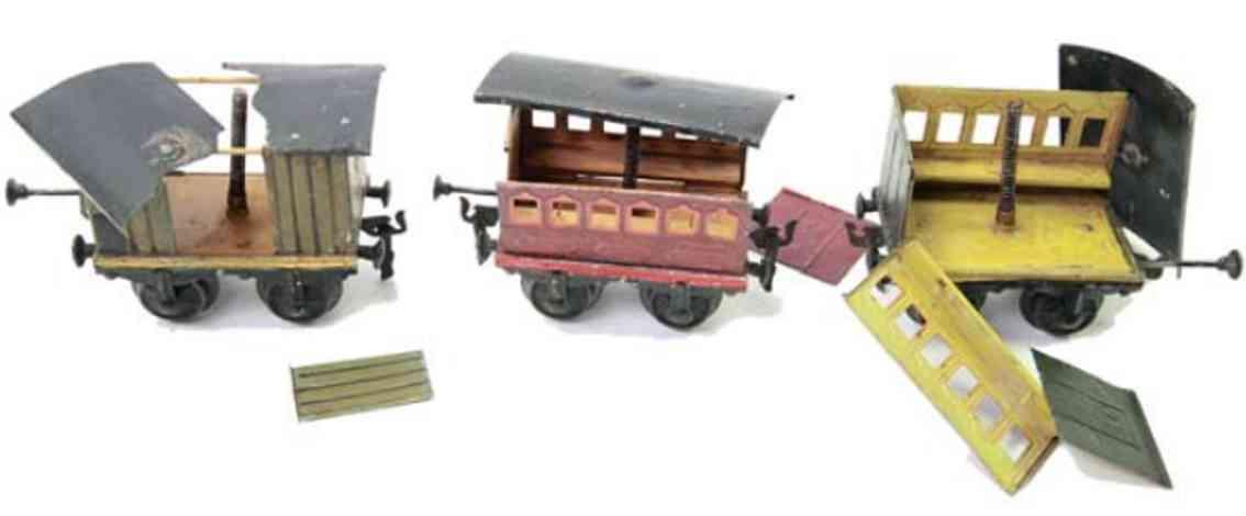 marklin maerklin 1840/1 railway toy 3 catastrophe cars gauge 1