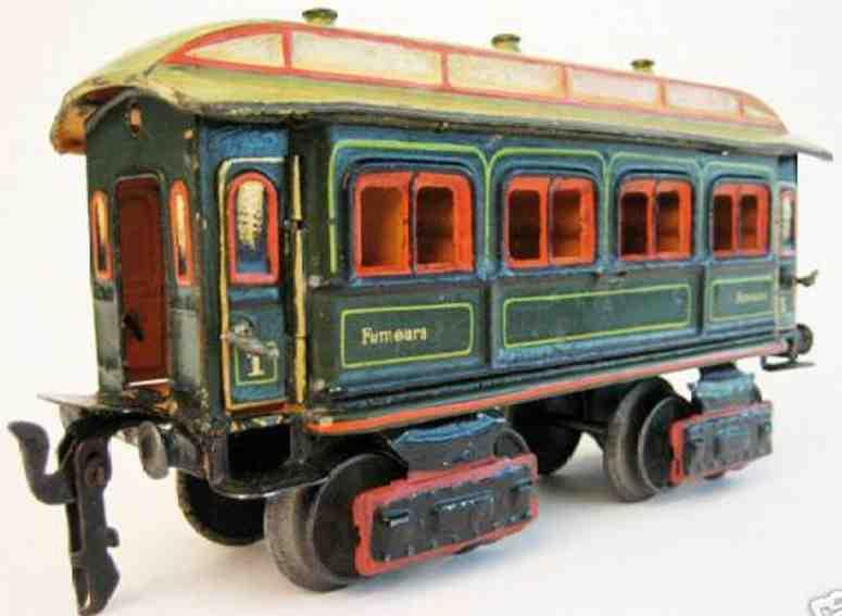 maerklin 1841/0 spielzeug eisenbahn franzoesischer personenwagen gruen spur 0