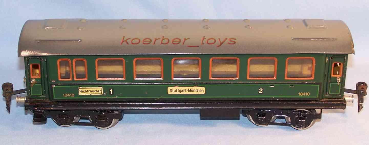 maerklin 1841/0 spielzeug eisenbahn personenwagen gruen spur 0