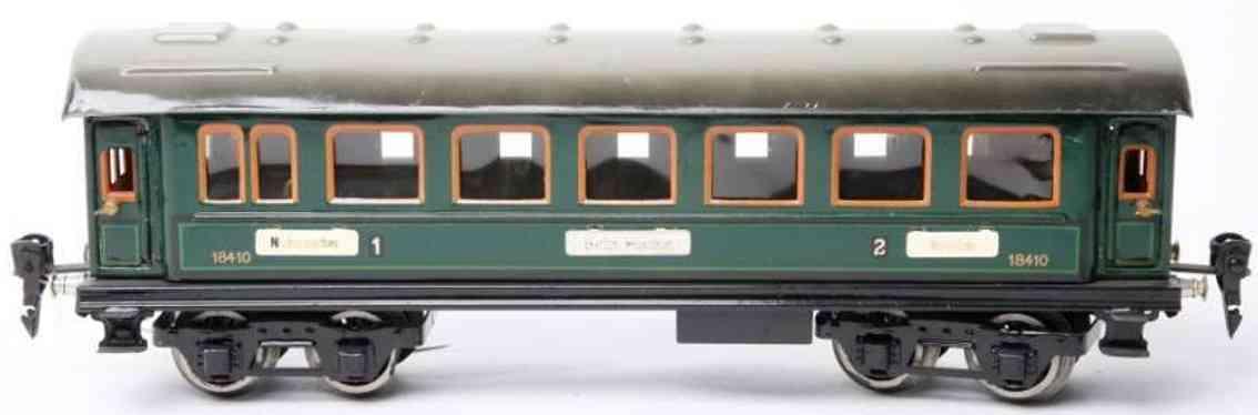 maerklin 1841/0 1930 g spielzeug personenwagen gruen inneneinrichtung spur 0