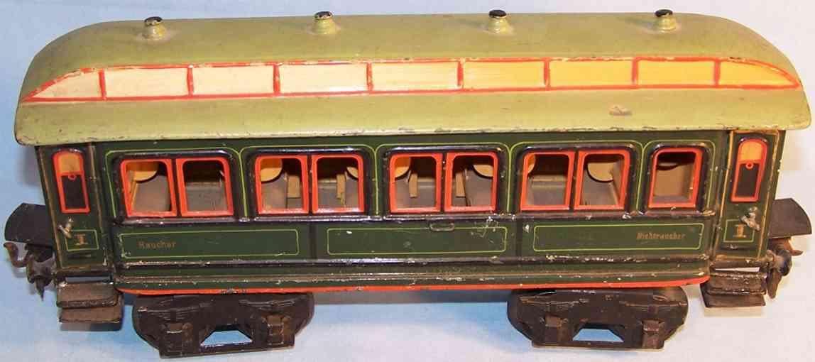 maerklin 1841/1 spielzeug eisenbahn abteilwagen gruen spur 1