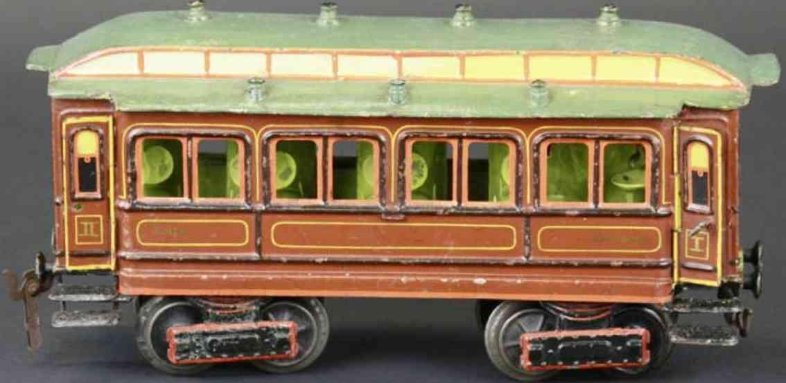 maerklin 1841/1 spielzeug eisenbahn personenwagen braun spur 1
