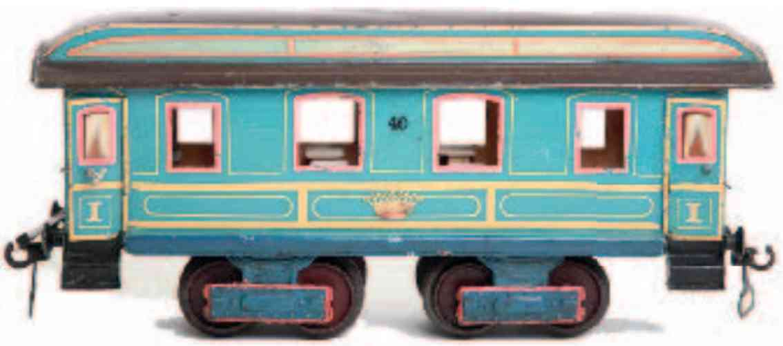 marklin maerklin 1841k 1898 blau railway toy dining car light blue gauge 1