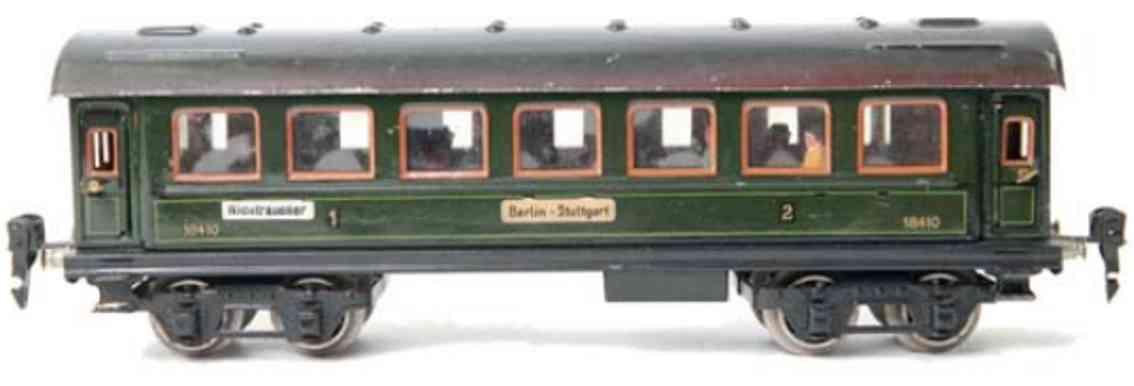 maerklin 1841/1 g spielzeug eisenbahn personenwagen gruen spur 1