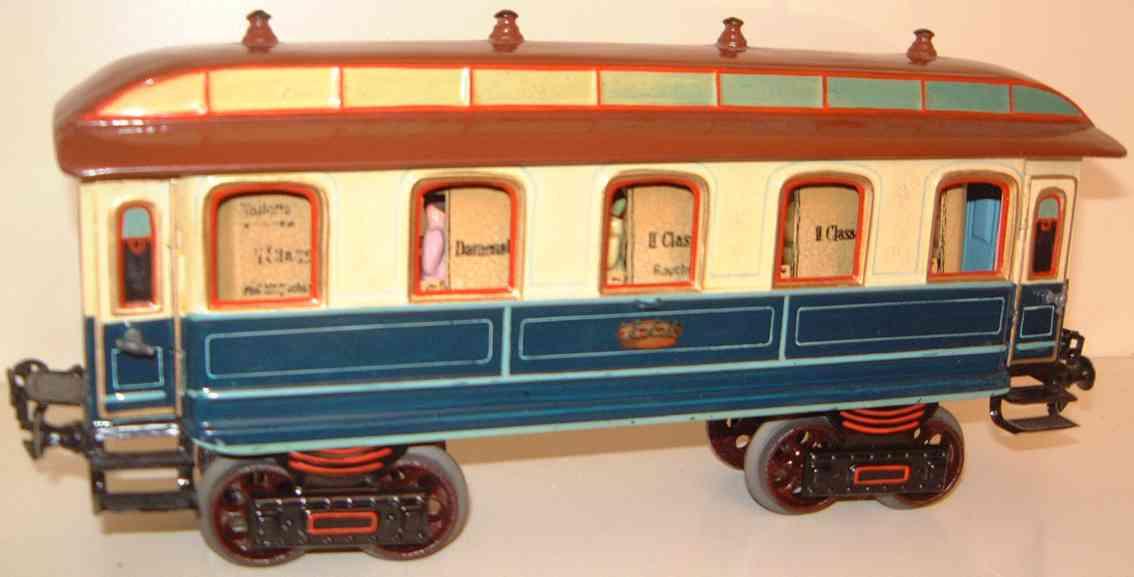 maerklin 1841/1 k spielzeug eisenbahn kaiserwagen blau creme spur 1