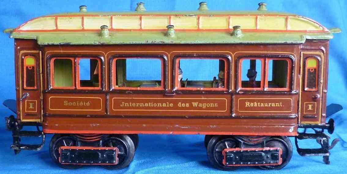 maerklin 1842/1 spielzeug eisenbahn speisewagen teakbraun spur 1