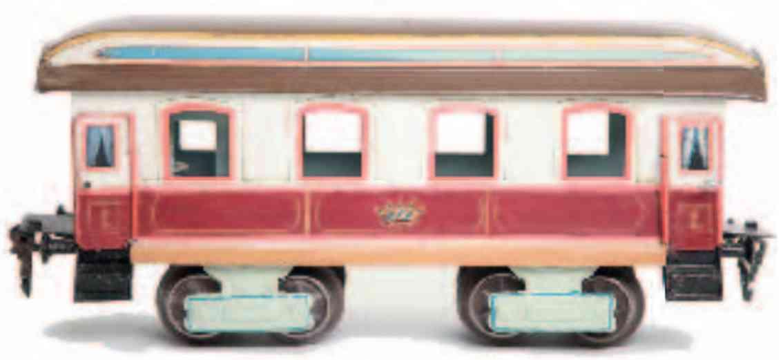 marklin maerklin 1842/1 1898 railway toy dining car kaiserwagen brown white gauge 1
