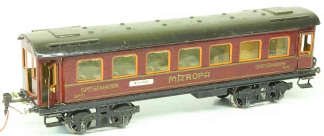 maerklin 1842/1 g spielzeug eisenbahn d-zug speisewagen mitropa rot spur 1