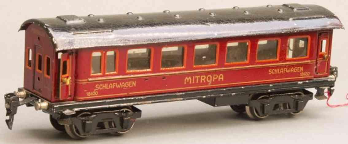 maerklin 1843/0 spielzeug eisenbahn schlafwagen mitropa rot spur 0