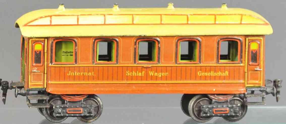 marklin maerklin 1843 railway toy sleeping car teak brown gauge 1