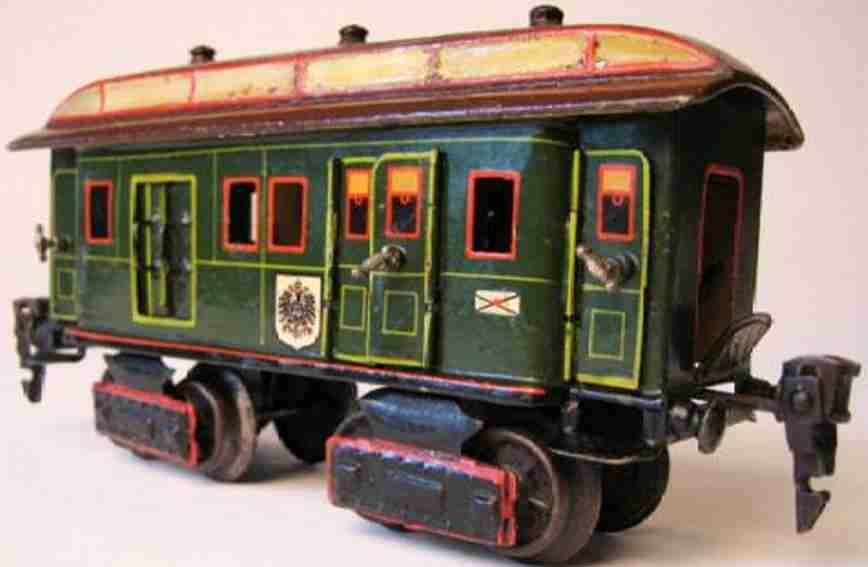 maerklin 1844/0 spielzeug eisenbahn post- gepaeckwagen gruen spur 0