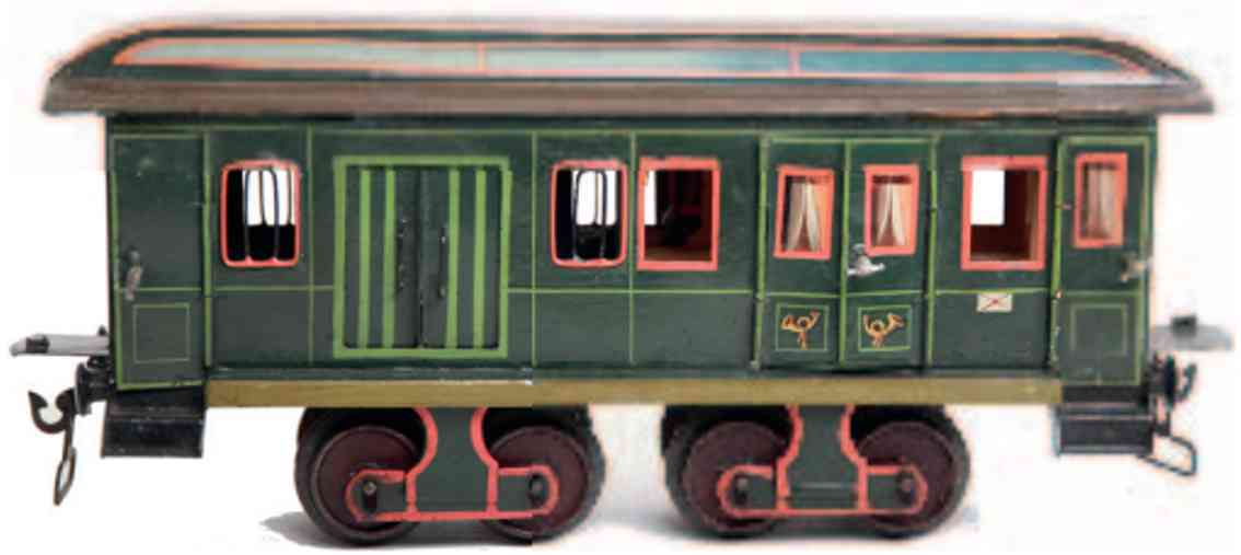 marklin maerklin 1844/1 9 railway toy baggage car green gauge 1