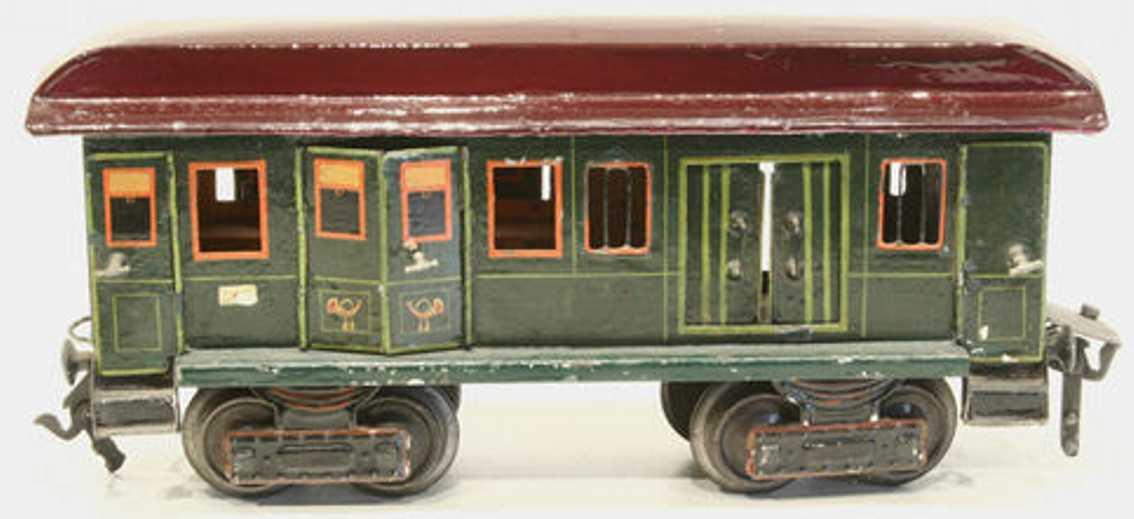 maerklin 1844/1 spielzeug eisenbahn gepäckwagen gruen spur 1
