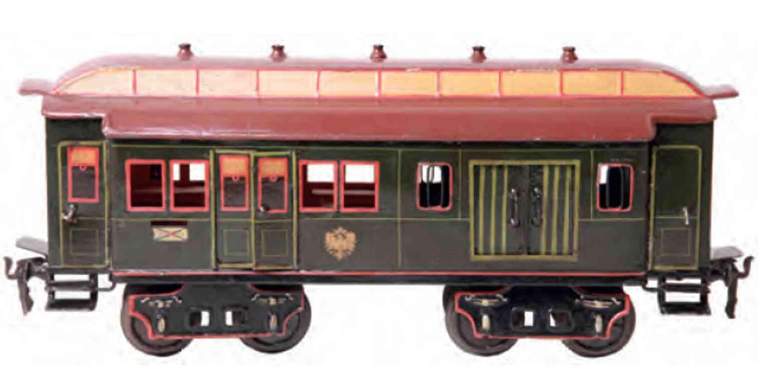 maerklin 1844 1904 spielzeug eisenbahn post- und gepaeckwagen gruen 5 luefter spur 2
