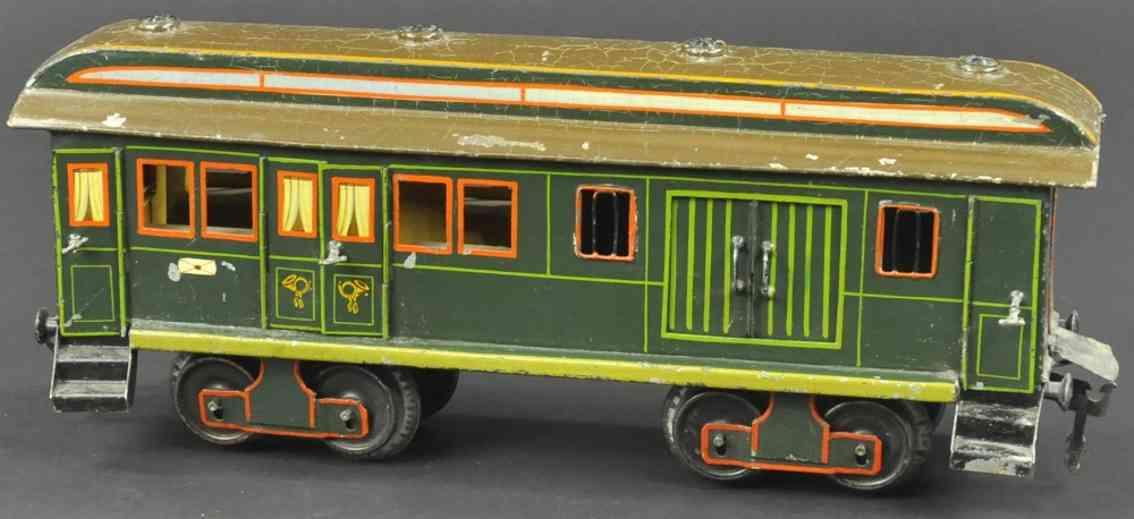 maerklin 1844/II eisenbahn post- und gepaeckwagen gruen spur 2