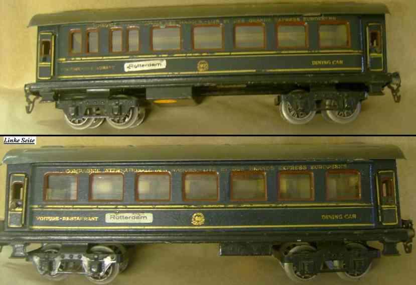 maerklin 1846/0 spielzeug eisenbahn internationaler speisewagen blau spur 0