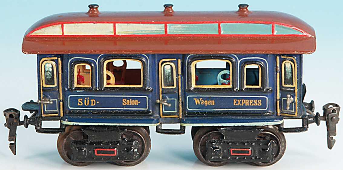 maerklin 1847/0 spielzeug eisenbahn salonwagen blau spur 0
