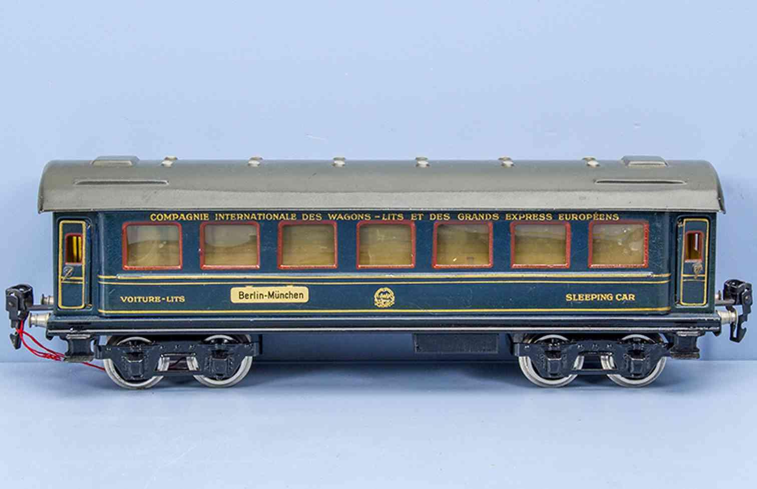 marklin maerklin 1847/0 1930 railway toy international sleeping car blue gauge 0