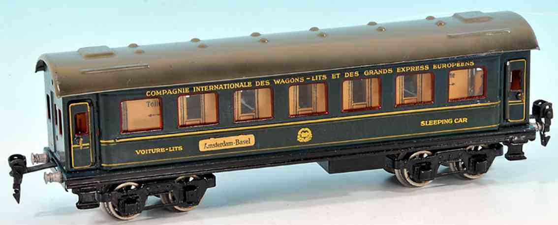 maerklin 1847/0 g spielzeug eisenbahn internationaler schlafwagen blau spur 0