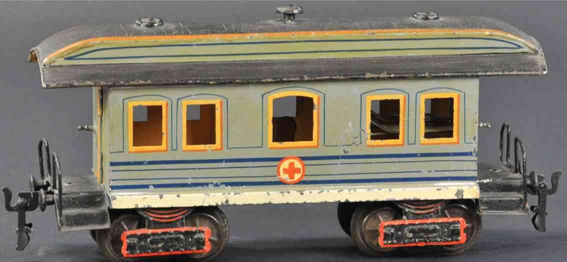 marklin maerklin 1848/1 railway toy hospital car blue gauge 1