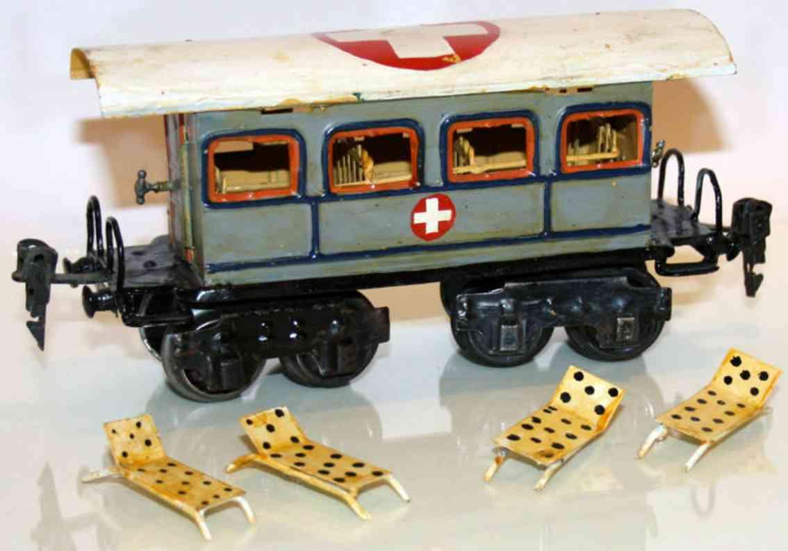 maerklin 1848/0 p spielzeug eisenbahn sanitaetswagen grau spur 0