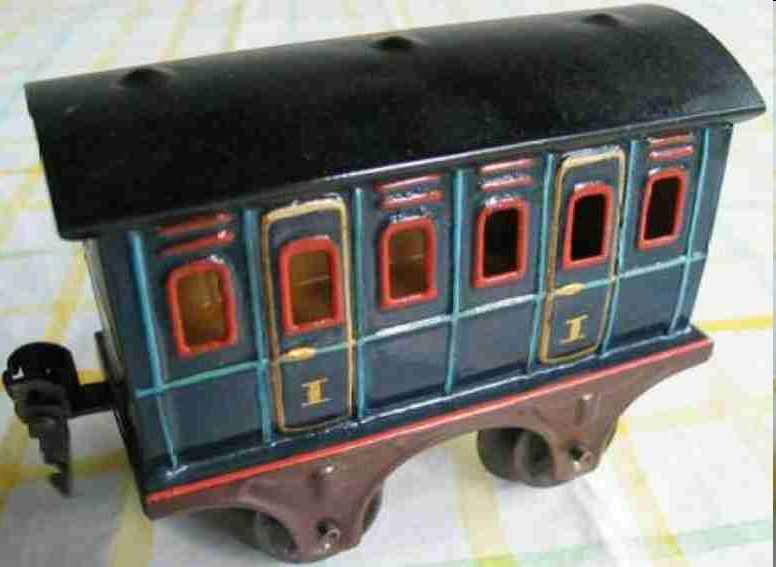 maerklin 1855/0 spielzeug eisenbahn abteilwagen blau spur 0