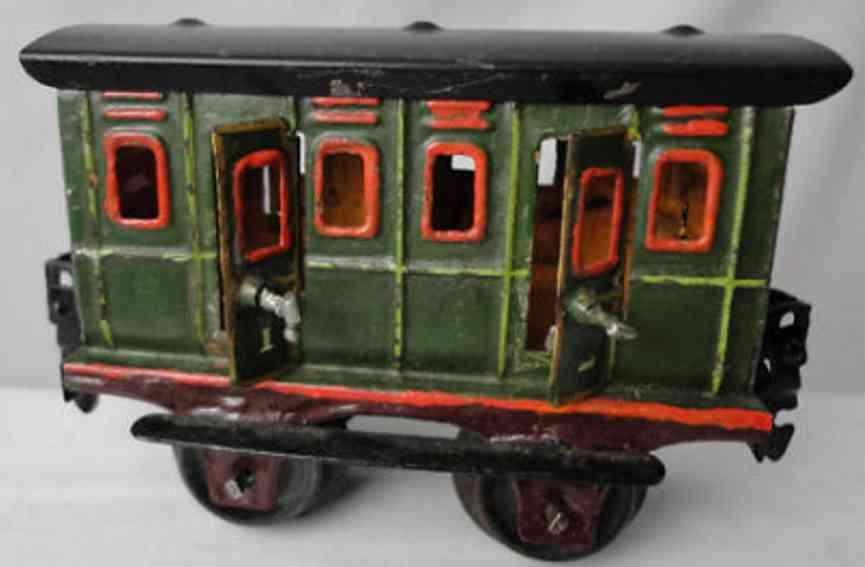 maerklin 1855/0 spielzeug eisenbahn abteilwagen gruen spur 0