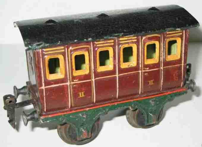 maerklin 1855/1 spielzeug eisenbahn personenwagen abteilwagen rotbraun spur 1