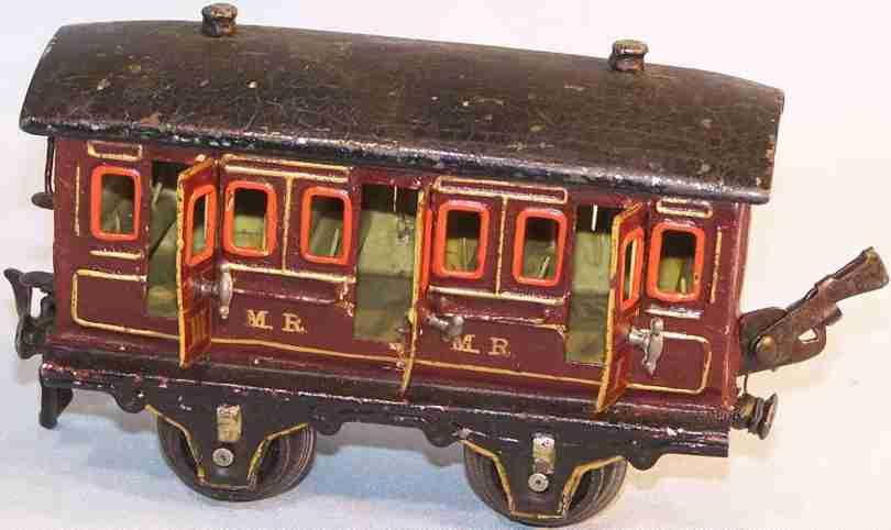 maerklin 1856/0 mr spielzeug eisenbahn englischer abteilwagen rotbraun spur 0