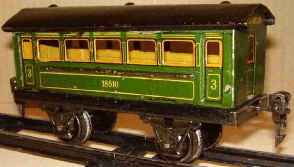 maerklin 1861/0 spielzeug eisenbahn personenwagen gruen schwarz spur 0