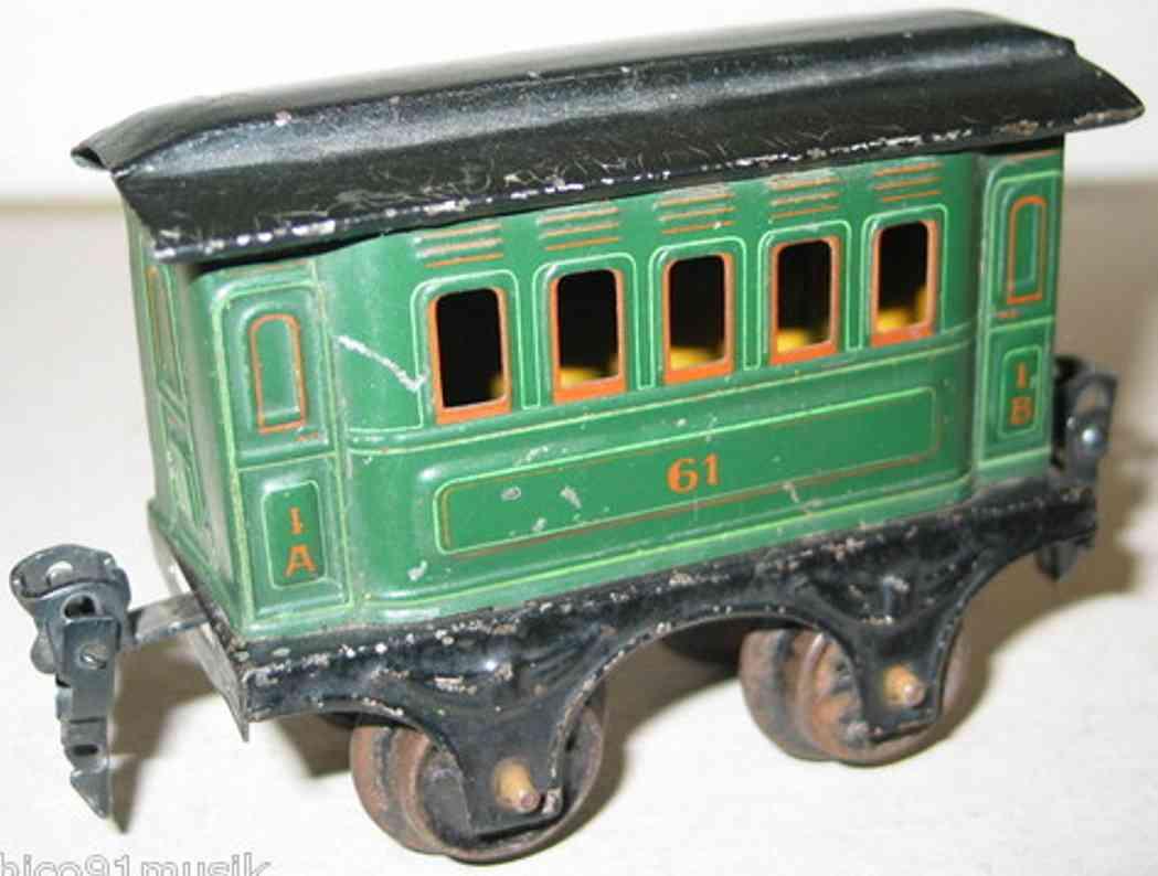 maerklin 1861/0 spielzeug eisenbahn personenwagen gruen spur 0