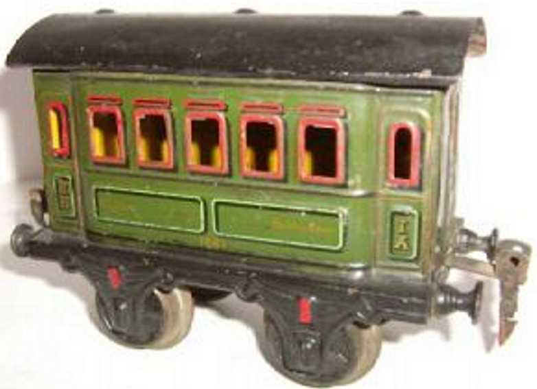 maerklin 1861/1 spielzeug eisenbahn personenwagen gruen spur 1