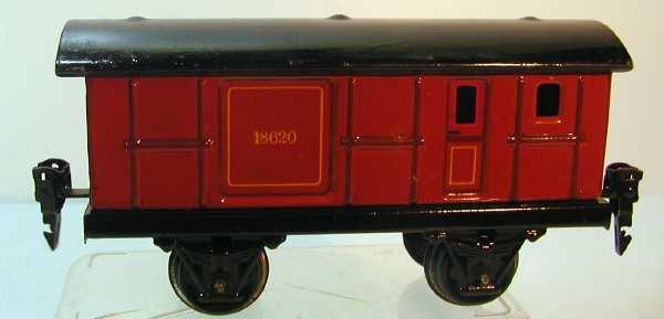 maerklin 1862/0 spielzeug eisenbahn gepaeckwagen rotbraun spur 0