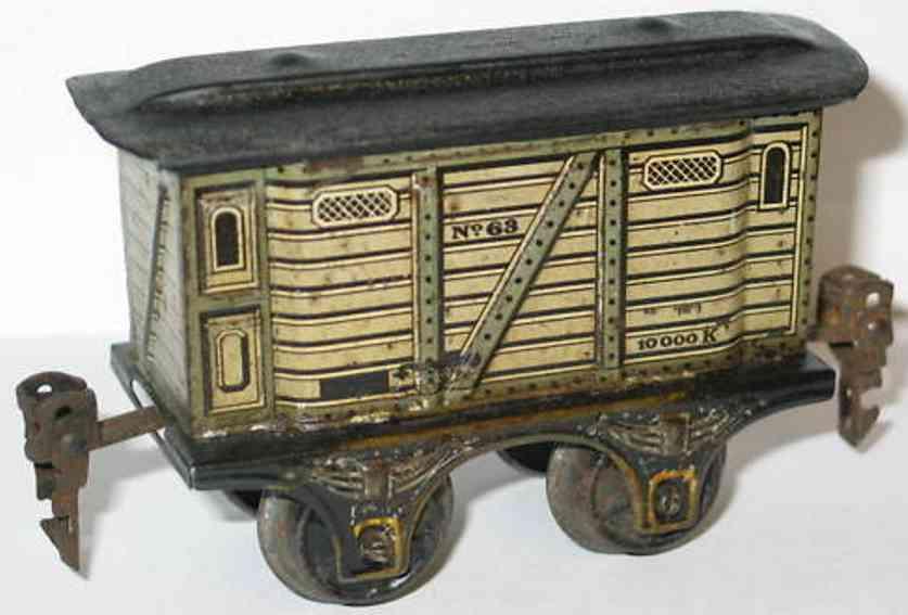 maerklin 1863/0 spielzeug eisenbahn gepaeckwagen grau spur 0